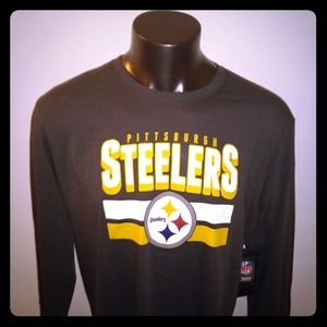 Pittsburgh Steelers Charcoal Long Sleeve T Shirt
